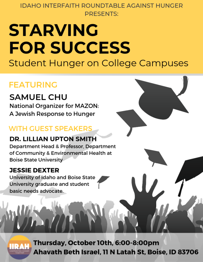 FLYER_Starving to Learn_ Student Hunger on College Campuses